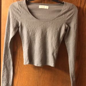 Abercrombie & Fitch Gray Crop Top